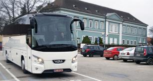 Test autobusu VDL probíhal vDačicích, kde je české zastoupení společnosti VDL