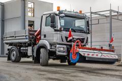 MAN TGM skonfigurací 4x4 zvládá běžnou zimní údržbu silnic za všech podmínek