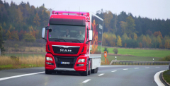 Konečná průměrná spotřeba silniční soupravy stahačem MAN TGX D38 Euro VI byla velmi zajímavá: 30,7 l/100km!