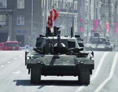 9. května 2015 představila ruská armáda natradiční vojenské přehlídce keDni vítěz- ství naRudém náměstí vMoskvě zcela nový tank T-14 Armata.
