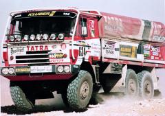 Poprvé vyrazila soutěžní vozidla Tatra dobitvy skonkurencí, přírodními nástrahami apočasím narallye Dakar vroce 1986.