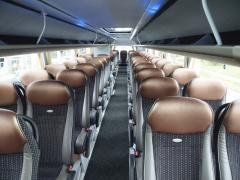 Cestující čeká luxusní jízda