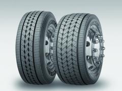 Srovnání pneumatik GoodYear KMAX SLow Deck 355/50 a375/45.