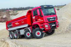 Čtyřnápravová vozidla MAN TGS 8x8 mají velmi dobrou pověst, ato díky dokonale prověřeným konstrukčním řešením.