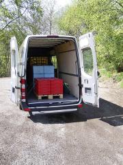 Všechna vozidla byla naložena ze dvou třetin užitečné hmotnosti