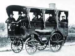 Parní omnibus konstruktéra avynálezce Amédeé Bolleé zvaný L'Obeissante – Poslušná zlet 1872 a1873 byl pro Léona Serpolleta výzvou kestavbě podstatně efektivnějšího, lehčího aelegantnějšího paromobilu.