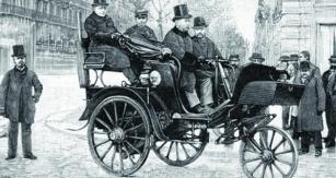 Serpolletovy velké parní tříkolky dokázaly přepravovat tři, čtyři, ale ipět osob.