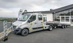 Renault Master tahač snávěsem zkarosárny FGS systems