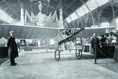 Blériot Ing.Otto Hieronyma před startem, vpražské Chuchli vroce 1910.