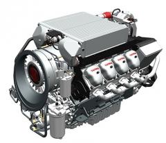 Maketa budoucího vzduchem chlazeného motoru Tatra V8 EU6
