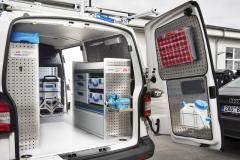 Dílenská vestavba Sortimo vhodná pro Peugeot Expert i Boxer. Montuje Top Centrum