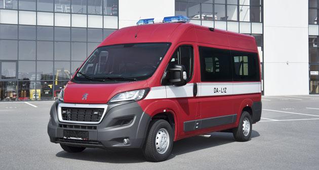 Hasičský speciál Peugeot Boxer zprodukce Hagemann, a. s.