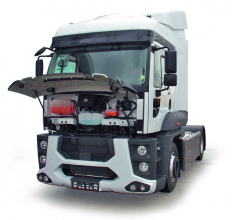 Odkvětna 2017 mají těžké nákladní vozy Ford Trucks velké obchodní aservisní zázemí vBukurešti uspolečnosti Cefin Trucks.