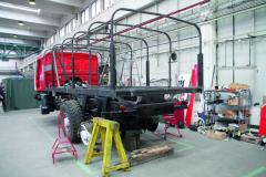 """Těžištěm druhé třetiny rekonstrukce T 815 6x6 VE """"Ostrý-II"""" (1985/1986) byla výroba nové nástavby."""