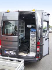 Vestavbu pro potřeby pojízdné dílny dodala společnost Sortimo