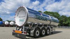 Třínápravový cisternový návěs pro přepravu piva