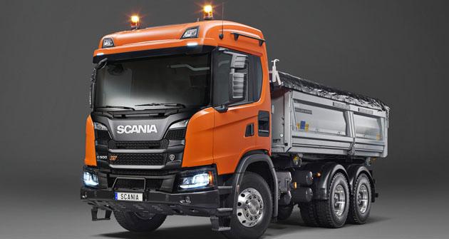 Scania G 500 6x6 třístranný sklápěč