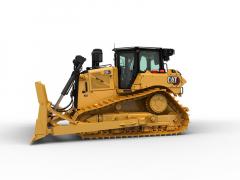 Nová prostornější kabina dozeru Cat D6 XE s větším prosklením značně zlepšuje podmínky pro práci