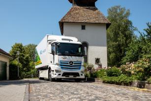 Mercedes-Benz má svoji Inovativní flotilu vozidel sestávající s elektricky poháněných těžkých vozidel eActros.