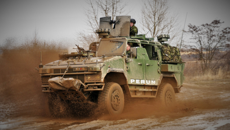 Obrněné vozidlo Perun 4x4 společnosti SVOS Přelouč.