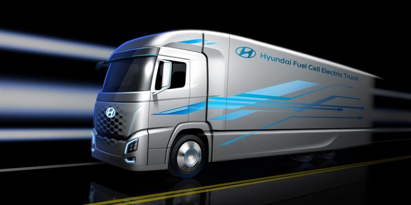 Vodíkové náklaďáky dodá do Švýcarska společnost Hyundai.