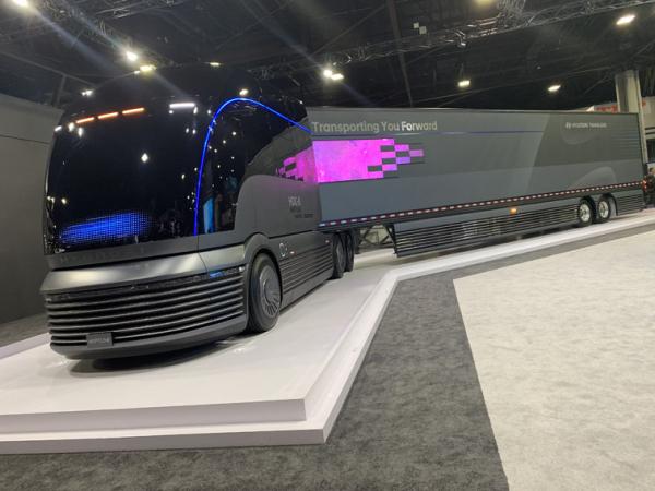 Hyundai Neptune na stánku společnosti na veletrhu NACV 2019 v USA.