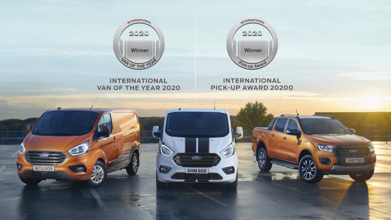 Ford drží pro rok 2020 dva prestižní tituly - Van of the Year 2020 a Pick-Up Award 2020. Bravo!