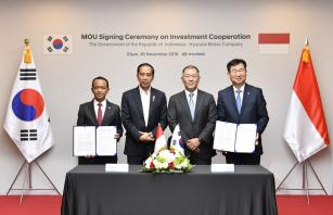 Hyundai podepsala MOU s Indonésií o výstavbě obří výrobní fabriky ve čtvrté nejlidnatější zemi světa.