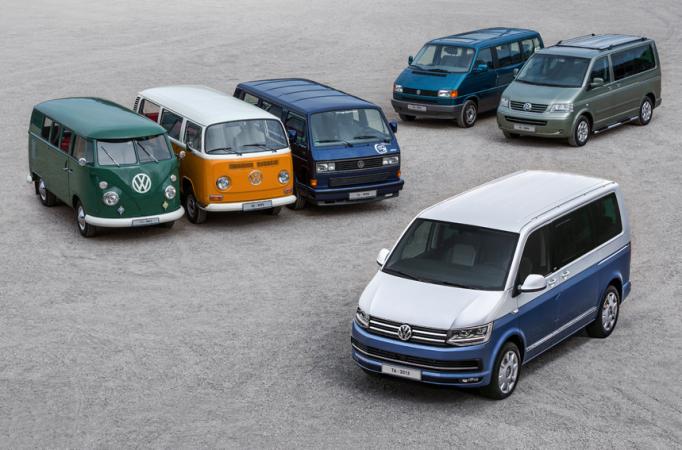 Sedmdesát let na cestě - VW Transporter.