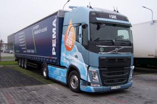 Testovaná souprava s tahačem Volvo FH 500 TC