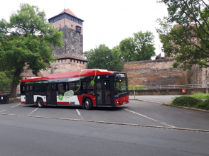 Elektrický autobus Solaris v Lipsku