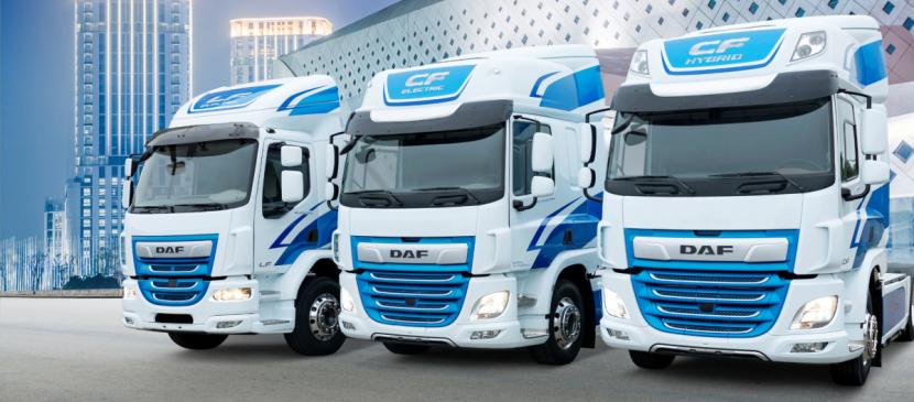 DAF se zaměřil na vývoj vozidel s čistě elektrickými a hybridními pohonnými systémy na základech modelových řad LF a CF.