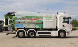 Vozidlo Scania na plynový pohon