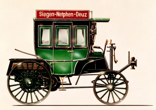 První autobus značky Benz používala společnost Netphener Omnibus-Gesellschaft na trase Siegen-Netphen-Deuz.