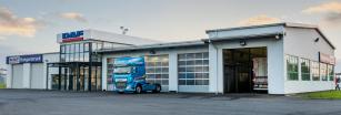 Nové obchodní zastoupení společnosti DAF Trucks ve městě Nyíregyháza v Maďarsku.