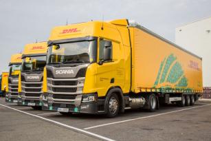 Tahače Scania s pohonem na zkapalněný zemní plyn (LNG – Liquefied Natural Gas).