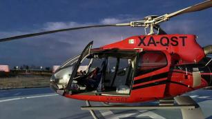 DACHSER Mexiko dodal zásilku výrobci automobilů helikoptérou