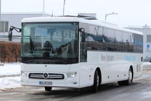 Testování nového modelu Mercedes-Benz Intouro