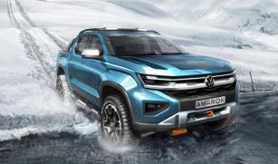 Skica naznačuje podobu nové generace pick-upu Amarok, jejíž premiéra je plánována na rok 2022.