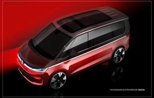 Volkswagen Užitkové vozy ukazuje skici nového Multivanu