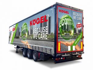 Návěs Kögel Mega Lightplus spojuje velký nakládací prostor s maximálním užitečným zatížením.