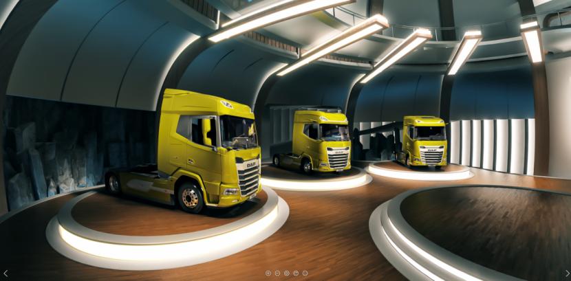 Společnost DAF Trucks představuje svá vozidla XF, XG a XG+ nové generace na obrazovkách počítačů a mobilních zařízení pomocí ohromující aplikace pro rozšířenou realitu a úchvatného on-line virtuálního zážitku – naprostá novinka v oboru.